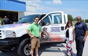 SG– VHV receives keys to Ford F-250 from Linnemann Realty